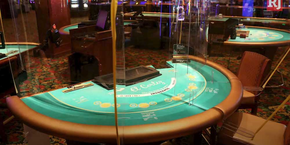 Screened Casino Table