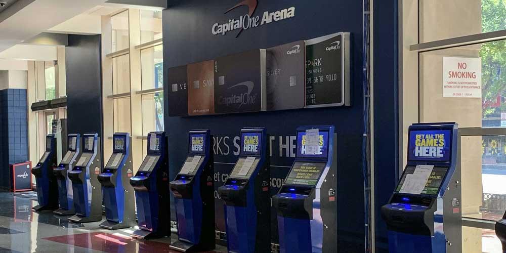 Capital One Arena Betting Kiosks